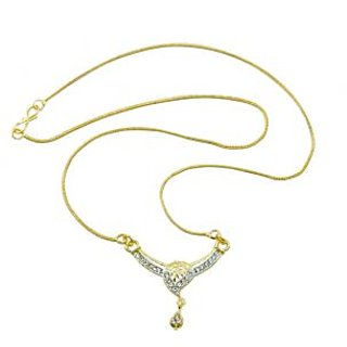 Aakshi Leaf With Glames Of Glitters Pendant Necklace