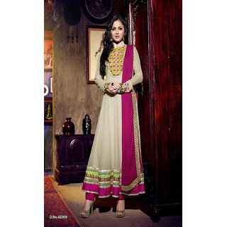 Madhubala Georgette with Embroidery Work Designer Collection Suit (Unstitched)