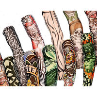 5 Pairs - Wearable Tattoo Arm sleeves Skin Cover for Sun protection