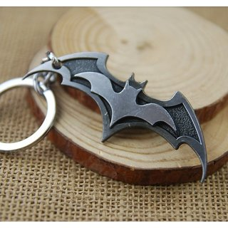 Superhero BATMAN wings 3d-JUSTICE LEAGUE-Keychain-Keyring-Limited edition-Grey