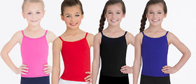 Aashish Fabrics Multicolour Blended Camisole Top For Girls (Pack of 4)