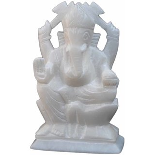 White Marble Ganeshji ( 5'' inches )