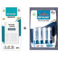 ENVIE SPEEDSTER ECR-11 BATTERY CHARGER With Envie Aa Size Batteries