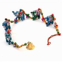 Bagru Crafts Rajasthani Elephant Door Hanging Handicraft -188