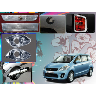 Chrome Plated Premium Quality Accessories For Maruti Suzuki Ertiga -Set Of 5 Pcs