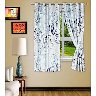 Story@Homemaroon Polyster Window Curtain Nature 2 Pc Window Curtain Wnr3046