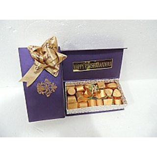Velvet Fine Chocolates ' Purple Chocolate Rakhi Box