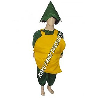 Smily mango fancy dress for kids,Fruits Costume for Annual function/Theme Party/Competition/Stage Shows/Birthday Party Dress