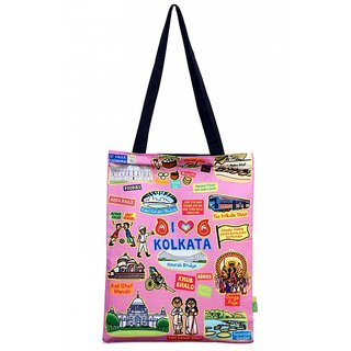Small Coloured Kolkato Cotton Bag