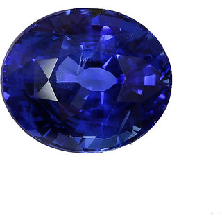 Blue Sapphire (Neelam) 6.5 ratti With Freebie Silver Coin