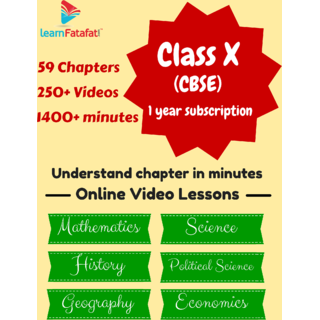 1 Year Subscription For Class X- CBSE 6 Subjects