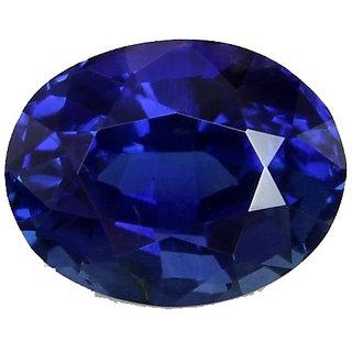 Blue Sapphire (Neelam) 5 ratti With Freebie 108 Beads Rudraksha Mala