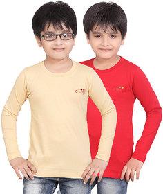 DONGLI BOYS FULL SLEEVE TSHIRT ( PACK OF 2)DLF450_5_13_RED_BEIGE