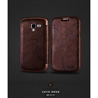 KLD OSCAR 2 PREMIUM LEATHER FLIP FLAP CASE SAMSUNG GALAXY S DUOS S7562 brown