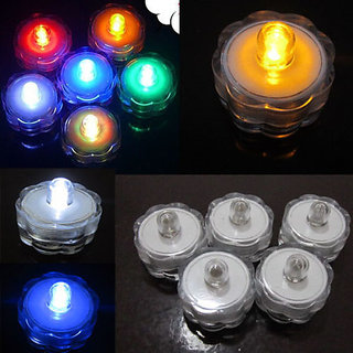 Multi Color Changing Led Flameless Tea Light Candles (06 Pieces)