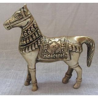 Bagru Crafts Brass Horse,Handicrafts,Home Decor,Gifts,Miniature show piece,collectible