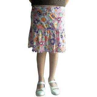 Mutlicolour Floral Printed Skirt