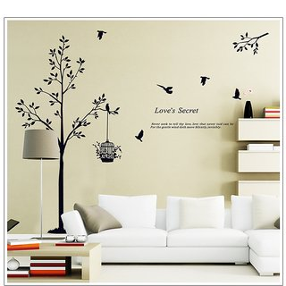 Asmi Collections Wall Stickers Wall Stickers Love Tree AY9064