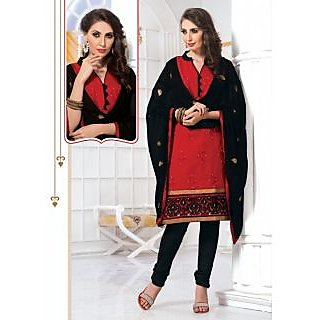 Riti Riwaz Red Designer  Dress Material With Dupatta SHJ115
