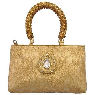 Stylocus Rectangular Gold Evening Carry-Ladies Every Occassion Bag