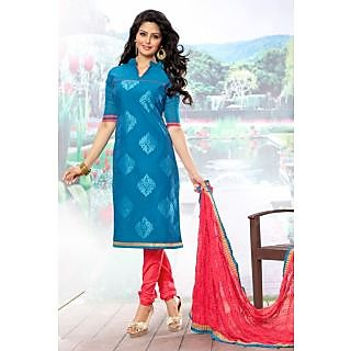 Riti Riwaz Light Blue Exclusive Dress Material With Fancy Dupatta 2SF4003