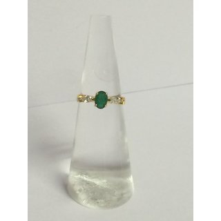 18k Gold Emerald Ring RN-R-04