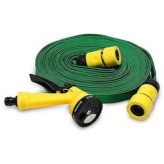 Phonoarena Portable Water Spray Gun With 10 Meter Pipe For Car & Bike Washing Set Of 1 - Green