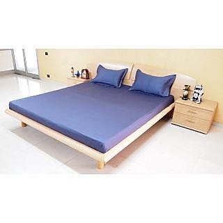 DIVINE CASA Blue Bedsheet  Pillow Cover RTL07