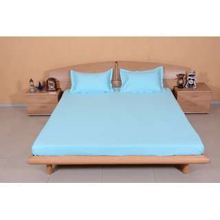 DIVINE CASA Blue Bedsheet  Pillow Cover RTL09