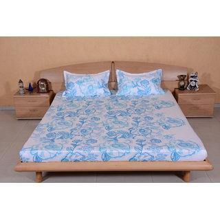 DIVINE CASA MultiColour Bedsheet  Pillow Cover RTL13
