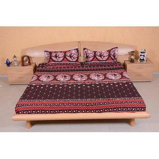 DIVINE CASA MultiColour Bedsheet  Pillow Cover RTL141