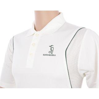 Kookaburra KB WT02 Half Sleeve T-Shirt, Large (Off White)