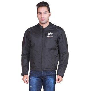 Pegasus Men's Polyester Black Casual Motorcycle Jacket