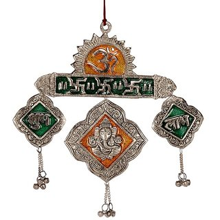 Gifts Vale Ganesh Ji Bell Shaped Wall Hanging