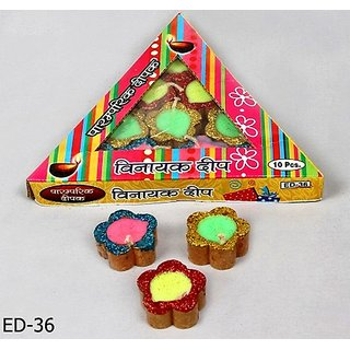 Tikona 10 Diyas Candle Pack