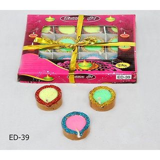 Janta 12 Diyas Candle Pack