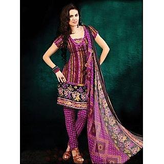 Riti Riwaz Multi Printed Drees Material With Matching Dupatta BNJ3012