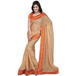 Trishana Fashions Multicolor Kanchipuram silk Self Design Saree With Blouse