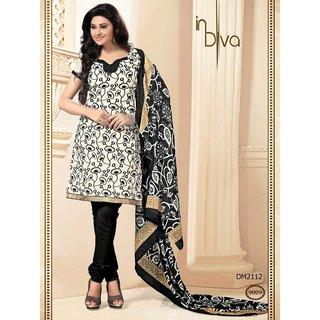 Indian Designer Black Dress Material (Unstitched)