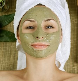 Spirulina Facial Pack, Face mask, Homemade Facial Kit for skin care - 100 Gram
