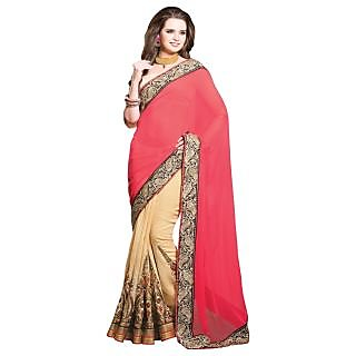 Triveni Multicolor Georgette Lace Saree With Blouse