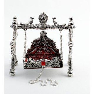 DIVYA  Miniature White Metal Ornate Shree Laxmi Jhula