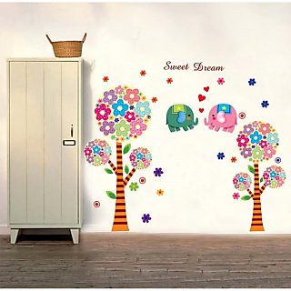 Asmi Collections Wall Stickers  Tree For Kids Room DM6980