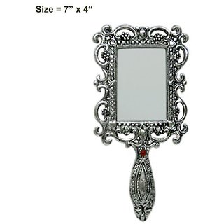 Gifts Vale Hand Mirror ( H 5.5 L 2.5 Inch )