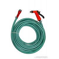 Heavy Duty Braided Hose With Brass Spray Gun For Car Wash & Gardening 15 Meters