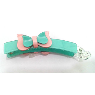 Fancy Green Pink Banana Hair Clip - 10039