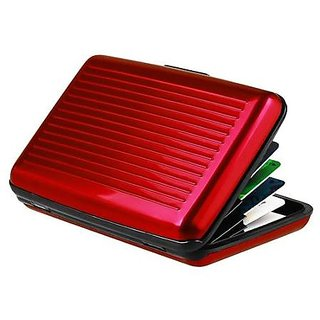 info for 79fb8 ec88b Hard Plastic Pocket ID Card Holder/ Wallet Waterproof Case - Red