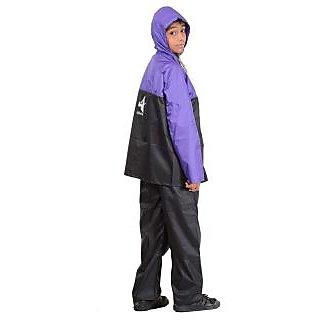 Polyester Boys Rainsuit,P-1123 -BLACK -S