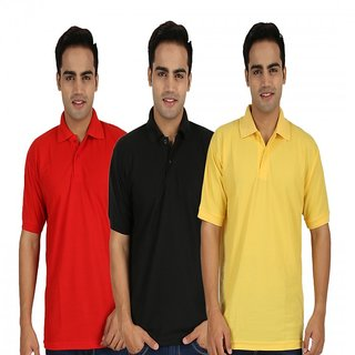 Larwa Solid Mens Casual Polo Neck T- Shirt