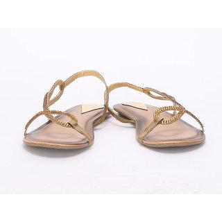 20degreef Women's Biege Casual Flats